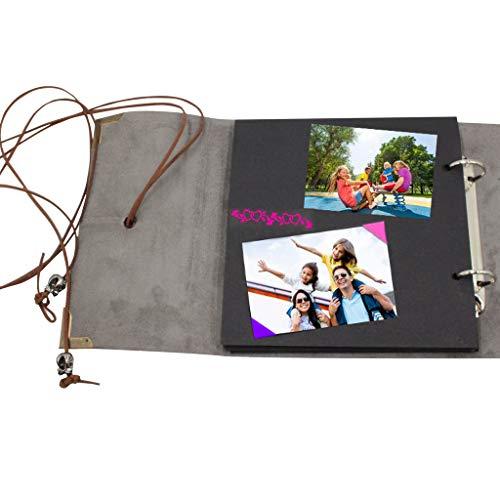 Wffo Álbum de Recortes, Elegante y con Clase, álbum de Fotos Vintage, álbum de Fotos Familiar, Libro de Recuerdos para Invitados