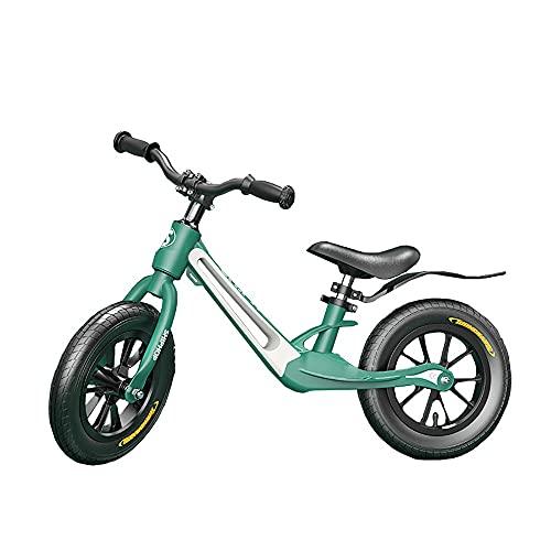 DODOBD Bicicleta sin Pedales para Niños de 2 a 5 Años hasta 8 Kg, Ultraligera Bici Equilibrio con Manillar Giratorio de 360 ° y Sillín Ajustables, Juguetes para Niños de 2 a 5 Años