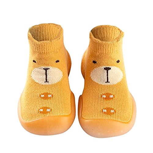 Mädchen Schuhe Babyschuhe Jungen Lauflernschuhe indoor Kleinkind Schuhe Bodensocken Sockenschuhe Rutschfeste Küken Kinder Schuhe Atmungsaktive Stricken Krabbelschuhe