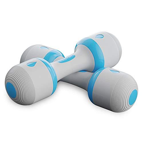 ダンベル 重量調節可能 筋力トレーニング 筋トレ シェイプアップ 男女兼用 (10KG-BLUE)