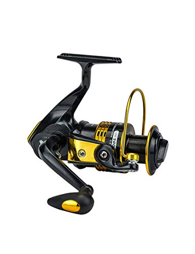 LLJPYX7L Carrete Giratorio de Pesca, Carrete de Pesca marítima, 6 rodamientos de Acero Inoxidable, relación de transmisión de 5,5: 1, Adecuado para la Pesca al Aire Libre, para Dar a los Amigos