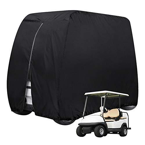 ZZX Abdeckung für Golfwagen, 210D Oxford Waterproof 2/4 Passenger Golfwagen Abdeckung Abdeckplane - Golf Car Cart Cover,Golfmobilzubehör,M