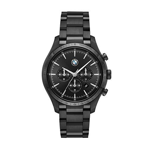 Orologio al quarzo cronografo BMW con cinturino in acciaio inossidabile placcato per BMW8003 da uomo