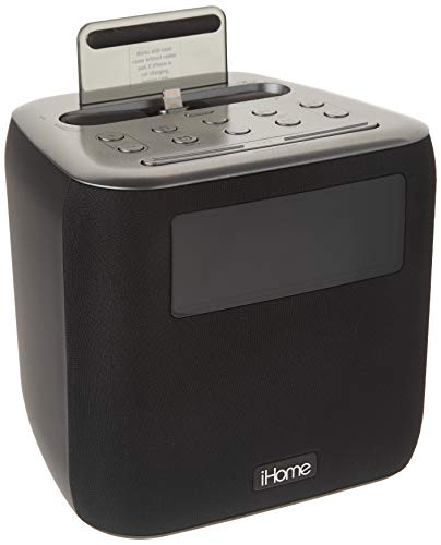 iHome iPL24 Alarm Clock FM Radio Lightning iPhone Charging Dock