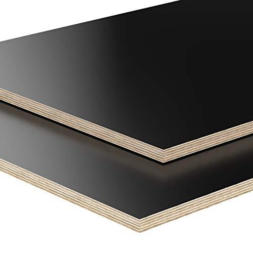 18mm Multiplex Zuschnitt schwarz melaminbeschichtet Länge bis 200cm Multiplexplatten Zuschnitte Auswahl: 150x30 cm