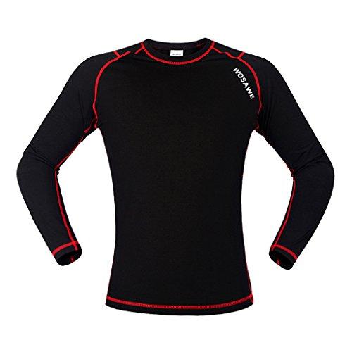MagiDeal 1 Stück Fahrrad Jersey Trikot Schnell Trocknend Langarm Sportbekleidung Schwarz - M