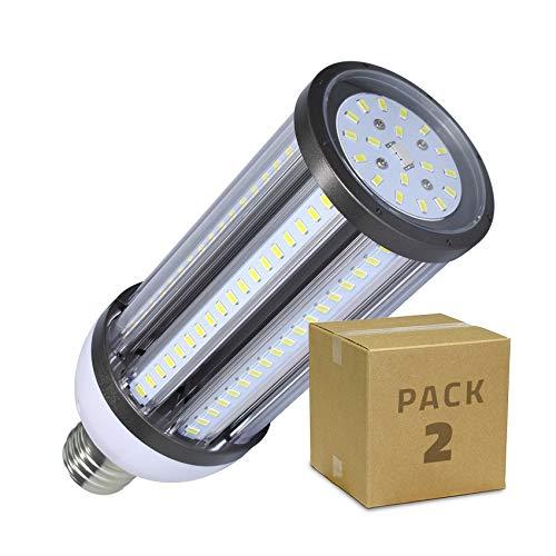 LEDKIA LIGHTING Pack Lámpara LED Alumbrado Público Corn E40 54W (2 un) Blanco Cálido 2800K - 3200K