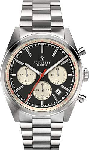 Accurist Herren Chronograph Quarz Uhr mit massives Edelstahl Armband 7216