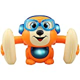 sunshines Cute Monkey Animal Doll Musical Tumbling Toy,360 D