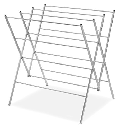 Whitmor Oversized Drying Rack, Silver