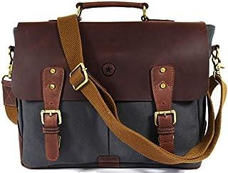 Messenger Bag for Men and Women | Shoulder Bag with Multiple Compartments Zippered Pockets School Bag