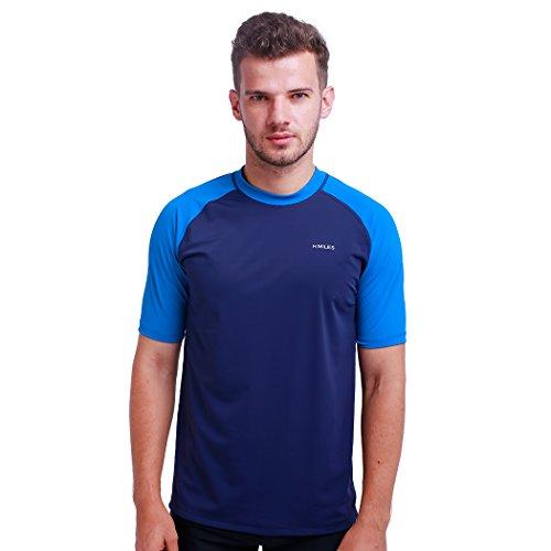 Herren Rash Vest Rashguard Kurzarm schwarz Schnorcheln Schwimmen Surfen Tops Tauchen Anzug UV Schutz Beach T-Shirt Shortsleeve