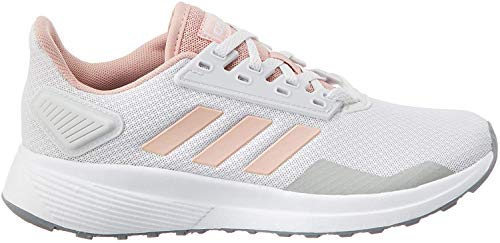 adidas Duramo 9, Zapatillas de Carretera para Mujer, Dash Grey Pink Spirit Footwear White, 38 2/3 EU