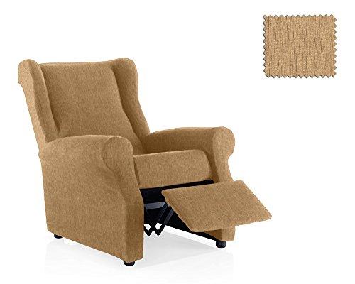JM Textil Copripoltrona Elastica Relax Haber Dimensione 1 Posto (Standard), Colore 01 (Vari Colori Disponibili.)