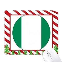 ナイジェリアアフリカ国家エンブレム ゴムクリスマスキャンディマウスパッド