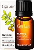 Gya Labs Nutmeg Essential Oil - Pain Reliever for Sore Free Body and Rested, Happier Days 10ml - 100 Pure Natural Therapeutic Grade Nutmeg Oil Essential Oils for Topical Use and Aromatherapy Diffuser