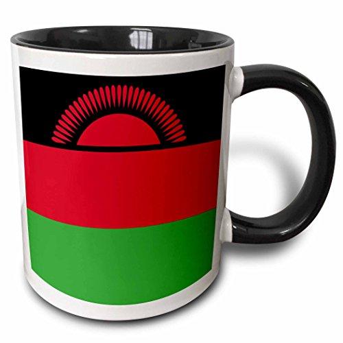 3dRose 158365_4 Flag of Malawi Mug, 11 oz, Black