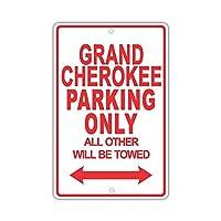 なまけ者雑貨屋 JEEP GRAND CHEROKEE Parking Only All Others Will Be Towed 金属板ブリキ看板注意サイン情報サイン金属安全サイン警告サイン表示パネル 駐車標識 道路標識