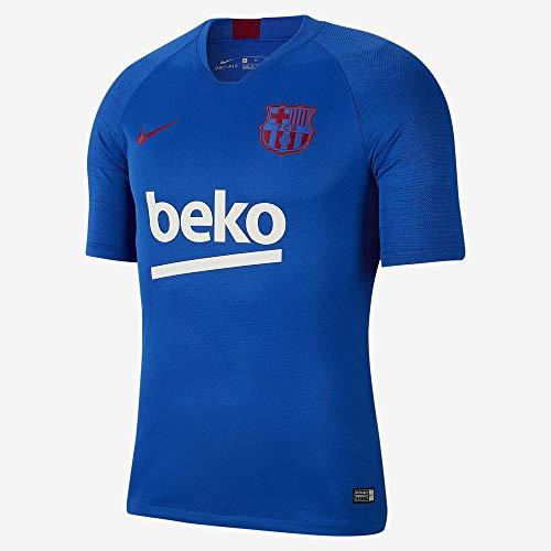 Nike FCB M Nk BRT Strk Top Ss - Short Sleeve Top Herren S Blau/Rot (Lyon Blue/Lyon Blue/Noble red)