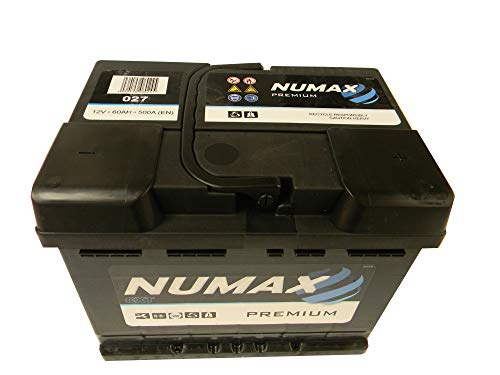 Numax Premium 027 Batterie Voitures, 12V 60Ah 500 Amps (En)