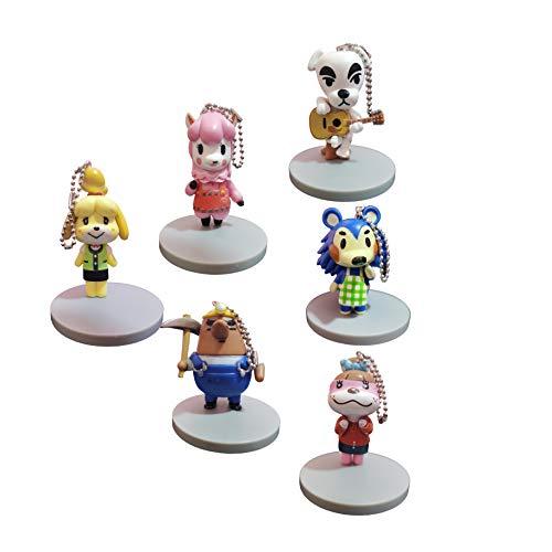 QIMA Tierkreuzungspuppe Schlüsselbund 6-teiliges Set Animal Crossing Geschenke Rick Doll Toy Pillow Move Sen Youhui Süße Weihnachtspuppe Peripherie