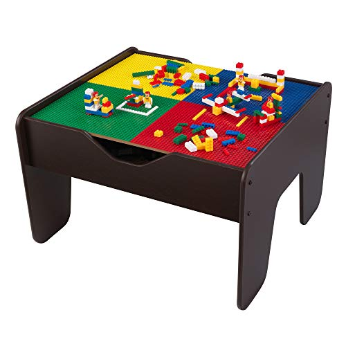 Kidkraft 2-in-1 Activity Table Espresso, 28.5' x 23.5' x 3.25'