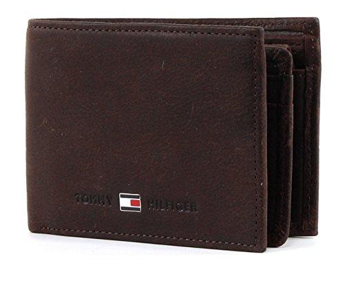 T.H. Deutschland GmbH Tommy Hilfiger JOHNSON MINI CC FLAP AND COIN POCKET AM0AM00662 Herren Geldbörsen 11x8x2 cm (B x H x T), Braun (Brown 041)