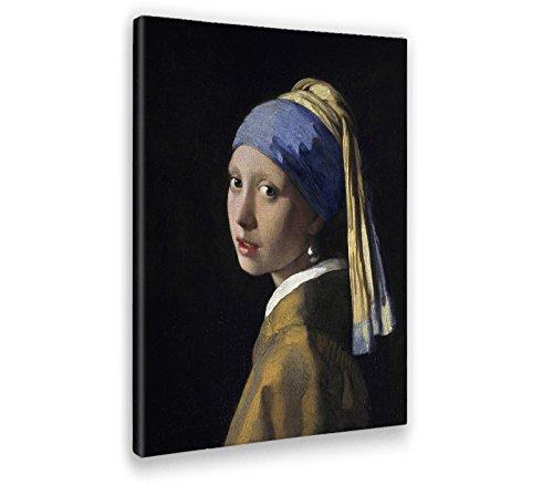 Giallobus - Bild - Druck AUF LEINWAND - JAN Vermeer - MÄDCHEN MIT PERLENOHRRING - 100 x 140 cm