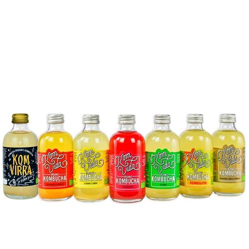 Té kombucha. Komvida. Kit multisabor. 12 botellas de 250 ml. Envío en frío.