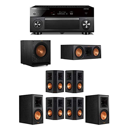 Great Features Of Klipsch 7.1 System - 2 RP-600M,1 RP-600C,4 RP-502S,1 SPL-100,1 RX-A3080 Receiver