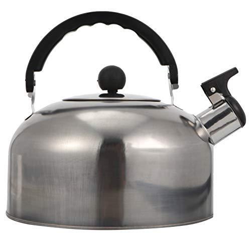 Hemoton Bollitore dacqua da 3 l, in acciaio inox, con manico ergonomico e sicuro, per la casa, colore: argento
