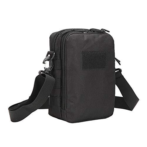 YSNBB Messenger Bag, schoudertas, laptoptas voor laptop, schoudertas opbergtas multifunctionele nonchalante mode tas (17 x 10 x 25 cm) zwart