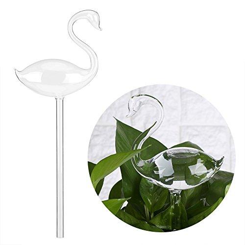 Acogedor Regadera automático Forma Cisne en Cristal, Dispositivo de riego Art Déco Flores Jardín, riego Dispositivo Simple de Flores Accesorios de Jardín, Transparente