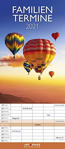 Glücksmomente 2021 A&I Familienplaner - Familienkalender - Wandkalender - 19,5x45
