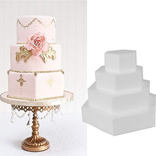 Lemon-Land Dekorationen der Parteien Sugarcraft Backwaren Styropor Schaum Cake Mould Backende Molde Übendes Modell Kuchen Dummy(4inch)