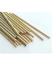 Chenweiwei Lcuiline - Soldeerstang 5 stks messing staven, draden stokken elektrode 1.0-3.0x 500mm goud reparatie lassen solderen staaf, op grote schaal gebruik