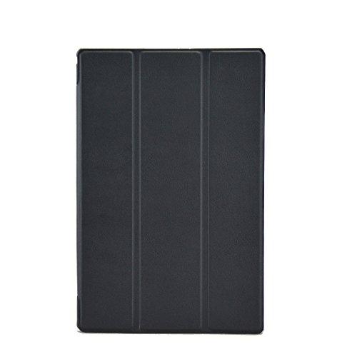 Awenroy Hülle für Sony Xperia Z2 Tablet Ultra dünn Smart Magnetische Abdeckung Hochwertiges PU mit Standfunktion Perfekt Geeignet für Sony Xperia Z2 Tablet - Schwarz