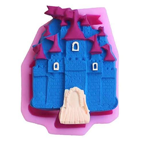 Shulcom Molde Lindo del Castillo de la Torta DIY Que hornea el Molde de la Torta de Silicona 3D Molde de laTorta de laHerramienta del Chocolate