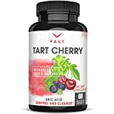 Organic Tart Cherry Extract Capsules Uric Acid Cleanse with Organic Celery Seed & Bilberry for Joint Support & Comfort, Muscle Recovery, Sleep, Pain Relief, Inflammation. Polyphenols Supplement Pills