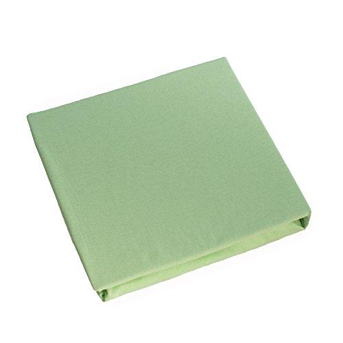 Jersey 100% Baumwolle Spannbetttüch, Passend für 160 x 70 Juniorbett Matratze (Grün)