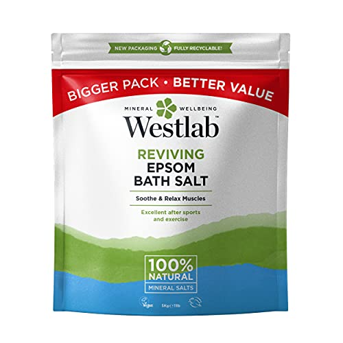 Westlab Epsom Salts 10Kg | Pure and Unscented | Recyclable and Resealable Packaging