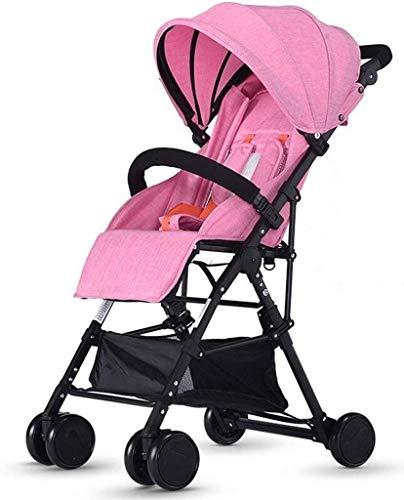 SYue Kinderwagen/Kinderwagen/Offroad-Zubehör, Faltbare Wickeltasche zum Wechseln kann Sich in Zwei Richtungen zusammenklappbarer Kinderwagen mit Vier Rädern zurücklehnen
