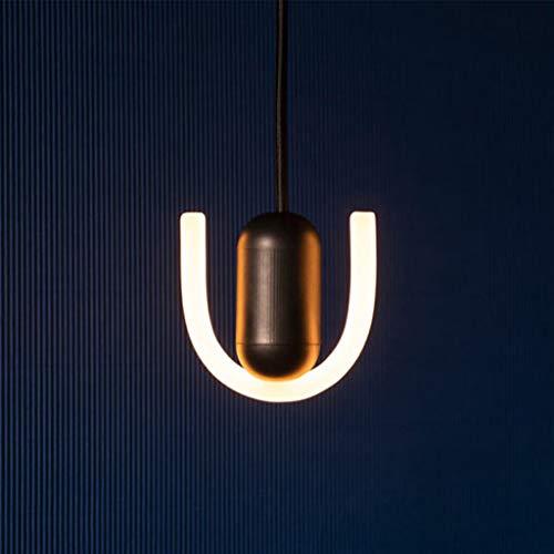 Pointhx Simplicidad Nordic LED Lámpara de techo LED de 1 luz de acrílico tira de luz decorativa lámpara colgante escalera cafetería cocina isla iluminación