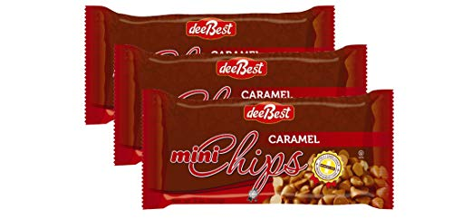 Dee Best Vegan Mini Caramel Chocolate Flavored Baking Chips   Non-dairy 9oz (Pack of 3) Kosher