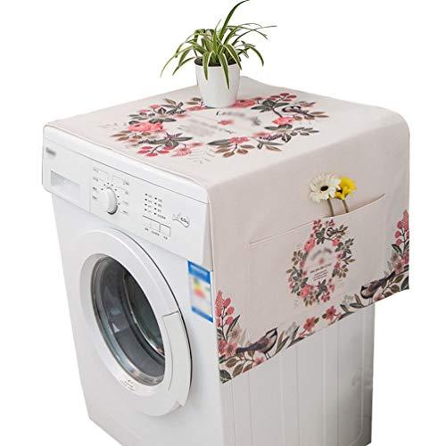 N / A Staubschutz Kühlschrank Abdeckung Tuch Staubtuch Nachttisch Waschmaschine Abdeckung Handtuch Gartenmöbel Abdeckung (Stil 4,45 * 140cm)