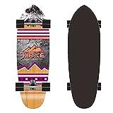 ZBYL Skateboard Deck Monopatin Completo Skateboards Cruiser para Principiantes Adultos Adolescentes y niños 74x24cm Surfskate Carver Pumpping Board 7 Capas de Arce Deck, Rodamientos de Bolas ABEC-9