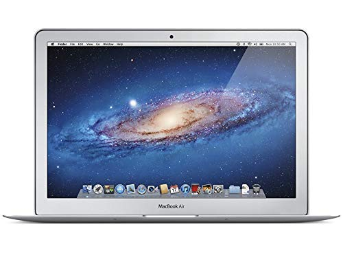Mid 2013 Apple MacBook Air with 1.3GHz Intel Core i5, 13-Inch, 4GB RAM, 256GB SSD (with QWERTY Spanish Keyboard) - Silver (Renewed)