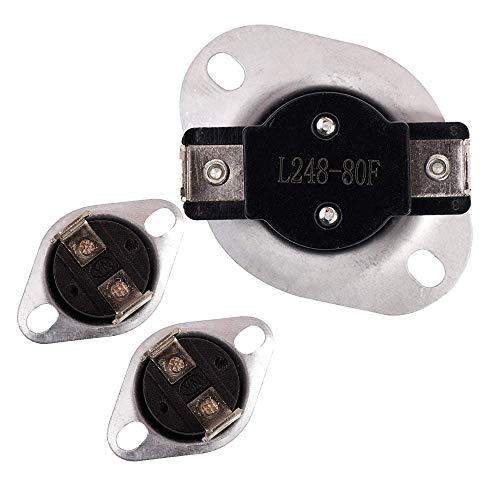 JJDD LA-1053 - Juego de fusibles térmicos de repuesto para secadora Whirlpool y Maytag (53-0771 53-1096 53-1182)