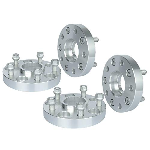 IRONTEK 1in Hubcentric Spacers 5x127mm (71.5mm Bore, 14x1.5 Studs) 5x5 to 5x5 Wheel Spacers Adapter 25mm FITS 2012-2016 Dodge Durango SUV Truck, 2018-2011 Jeep Grand Cherokee SRT8 4 PCS