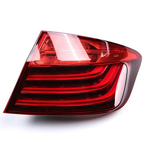 Lámpara de luz trasera trasera LED para 5 series F10 LCI 528i 535i 2014 2015 2016 Luz de advertencia del indicador de freno de parada con bombilla, 1 pieza lado derecho del pasajero, 63217306162